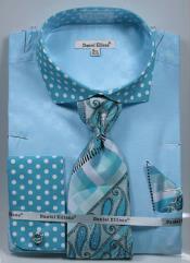 MK749 Daniel Ellissa Polka Dot French Cuff Dress Shirt