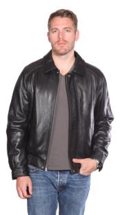 PN82 Easton Leather Bomber Liquid Jet Black Available in