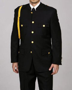 CU2834 Cadet-Uniform Liquid Jet Black Suit