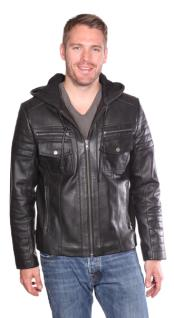 Warden Leather Bomber Jacket Liquid