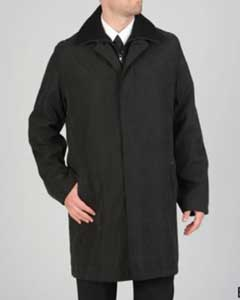 RC-1724 Rudy Microfiber Raincoat Liquid Jet Black