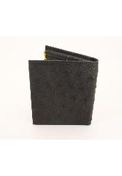 CKB8111 Ostrich Wallet - Bifold w/ Money Clip Black