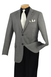 NR7883 Wool Fabric Sport Coat Liquid Jet Black Birdseye