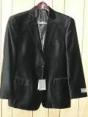 KA1284 Liquid Jet Black Luxurious soft velvet Coat