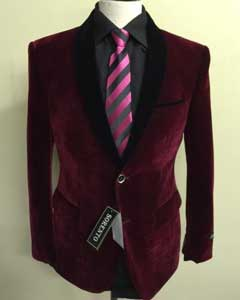 B8C4 Velvet ~ Velour Fabric Dinner Jacket Tuxedo Liquid