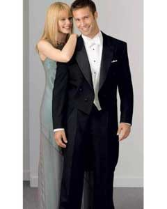 100% Wool Fabric Peak Tailcoat