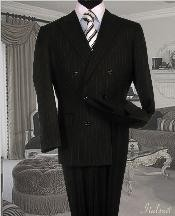 GC3434 Liquid Jet Black Suit With Smooth Stripe ~