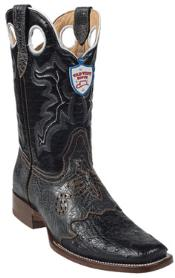 HW5646 Wild West Liquid Jet Black Ostrich Wild Rodeo