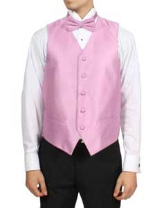 PN-049 Light Pink 4-Piece Vest Set