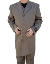 GD1567 Mens Dark Tan Button Closure Windowpane ~ Plaid
