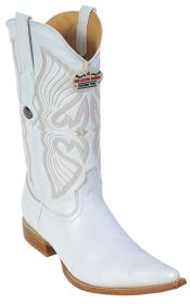 KA8799 Deer Leather White Authentic Los altos Cowboy Boots