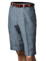 SM866 Inserch Brand Brand/Merc Denim Blue Pleated Slacks Flat