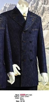MU4545 Denim Cotton Fabric Suit Style comes in Liquid