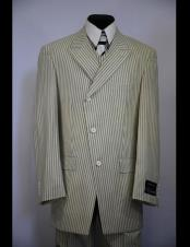 CH2462 Mens double Breasted Wide Peak Lapel stripe zoot