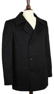 COAT08 Wool Fabric Pea Coat