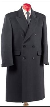 Fully Lined Double Breasted Wool Fabric Blend Long overcoats