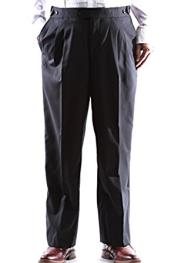 JSM-2997 Mens Black Super 140s Stretch Wool Tuxedo Pants