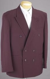 HTB4 2pc SHARP Double Breasted DRESS SUIT Burgundy ~