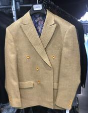 mens Double breasted Blazer ~