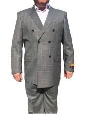JSM-6746 Alberto Nardoni Best Mens Italian Suits Brands Double