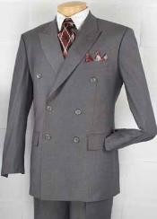 BR9211 Executive Double Breasted Suit Gray