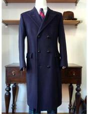 JSM-971 Mens Navy Blue Ralph Lauren Wool Blend Double