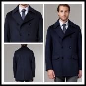 AC-656 Cashmere Double Breasted Long Topcoat Peacoat overcoats outerwear