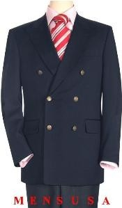 mens Navy Blue 100% Wool Fully