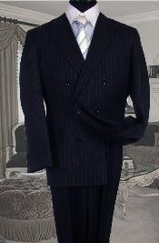 GB2356 Double Breasted Color Navy Blue Shade Suit With