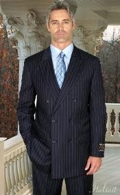 Mens double breasted suits, Charcoal Pinstripe Suit, Fashion Suit