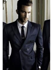JS367 Mens Navy Double Breasted Blazer ~ Sport Coat