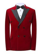 Mens Button Closure Red