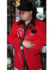 mens Red Double Breasted Blazer