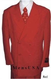 HTB4 2 Piece SHARP Double Breasted DRESS SUIT red