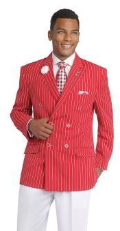 JSM-2721 Gangester 1920s Clothing Bold Chalk Bold Pinstripe Red