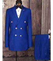 Mens Royal Blue Suit For