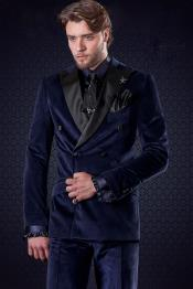 Mens Slim Fit Velvet