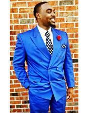 GD1504 Mens Royal Blue Suit For Men Perfect