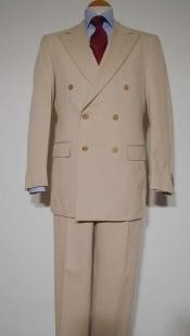 ZLT-DB Tan khaki Color ~ Beige Pure Virgin Wool