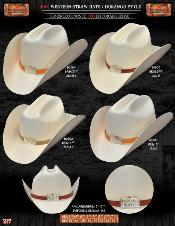 DRE7927 100x Durango Style Western Cowboy Straw Hats