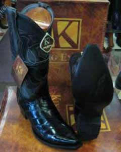 SM195 King Exotic Boots Snip Toe Genuine Eel Skin