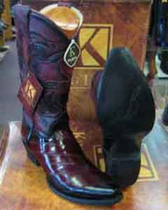 SM172 King Exotic Boots Genuine Eel Skin Snip Toe