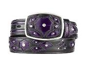SM268 Original Purple color shade Eel Skin Fashion Western