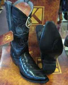 MK962 Genunie Eel King Exotic Boots Snip Toe Western