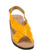 JSM-5325 Mens Exotic Skin Buttercup Sandals in ostrich or