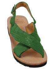 JSM-5273 Mens Exotic Skin Forest Sandals in ostrich or