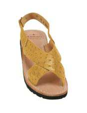 JSM-5320 Mens Exotic Skin Saddle Sandals in ostrich or