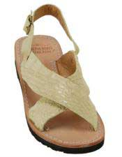 JSM-5285 Mens Exotic Skin Stone Sandals in ostrich or