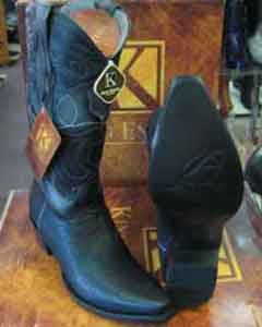 SM161 King Exotic Boots Snip Toe Genuine Shark Western