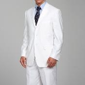 Ferre White Two-button Suit